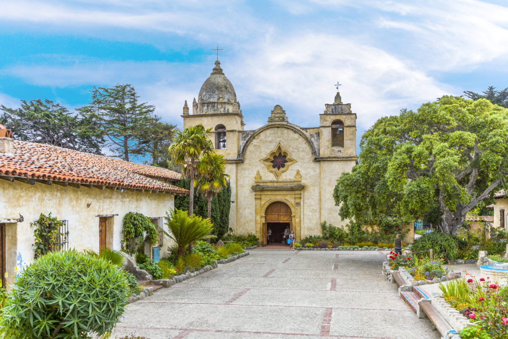 Carmel Mission in Carmel, USA. The Mission was founded in 1770 by Fr. Junipero Serra as second mission in California.